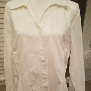 Nice White Button Up Blouse Size XL
